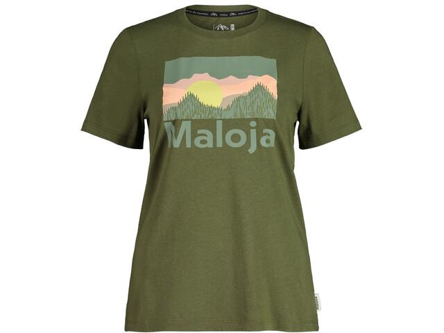 Maloja LeinblattM. SS T-Shirt Women moss